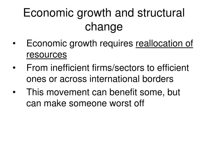 Economic growth and structural change