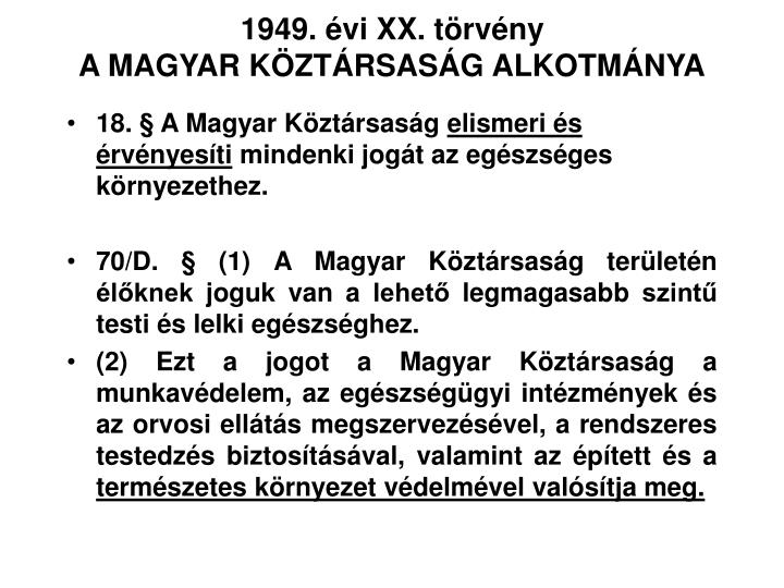 1949. évi XX. törvény