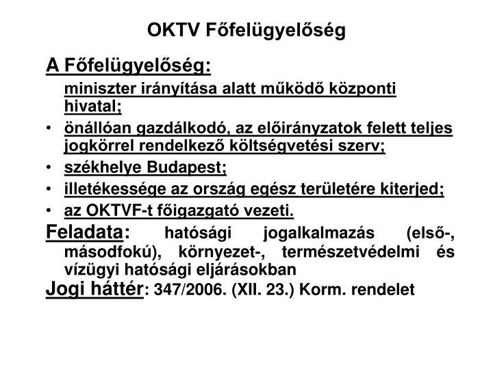 OKTV Főfelügyelőség