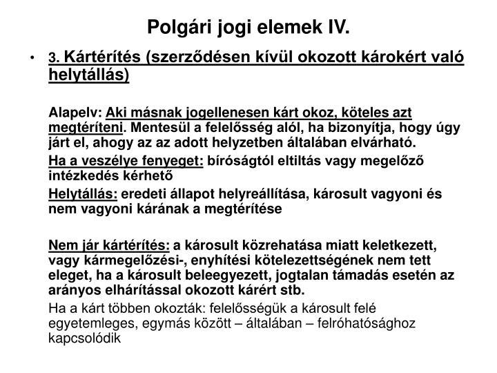 Polgári jogi elemek IV.