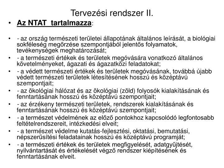 Tervezési rendszer II.