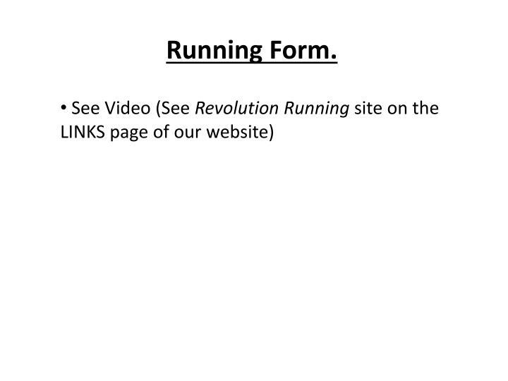 Running Form.