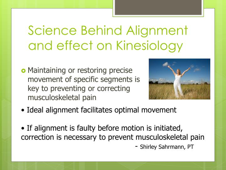 science behind alignment and effect on kinesiology n.