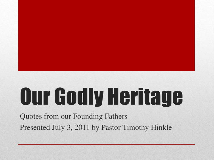 our godly heritage n.