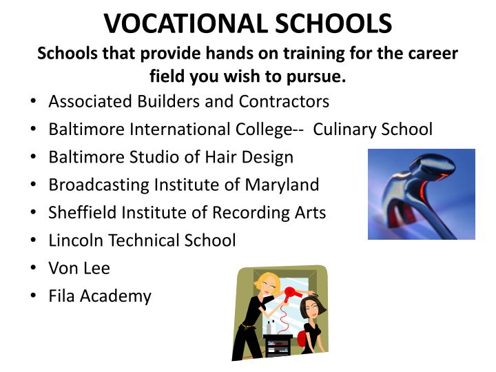 VOCATIONAL SCHOOLS