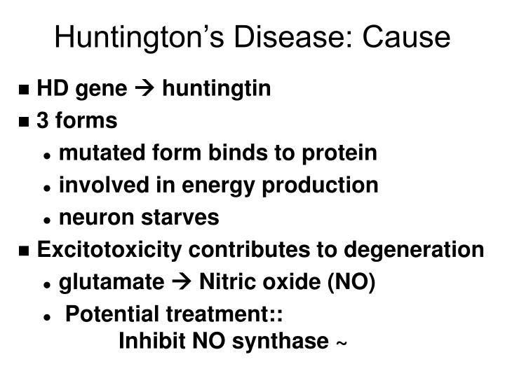 understanding the cause of huntingtons disease What is huntington's disease investigators are continuing to study the hd gene with an eye toward understanding how it cause disease in the human body.