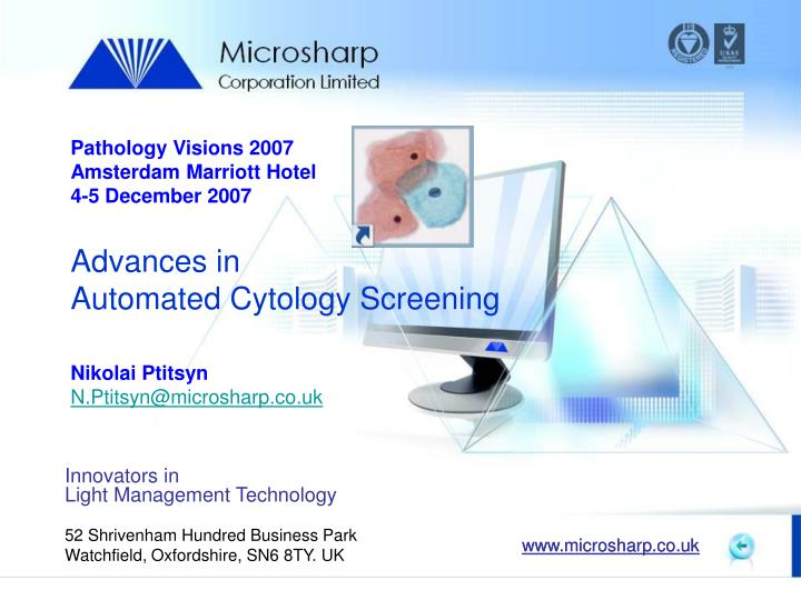 PPT - Advances in Automated Cytology Screening PowerPoint