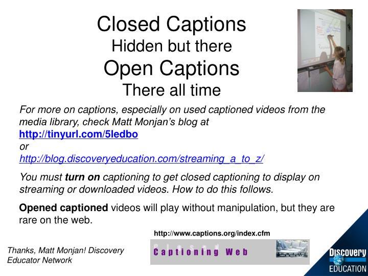 Closed Captions