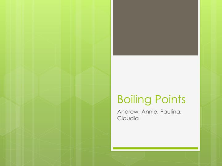 boiling points n.
