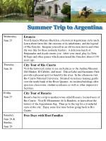 summer trip to argentina