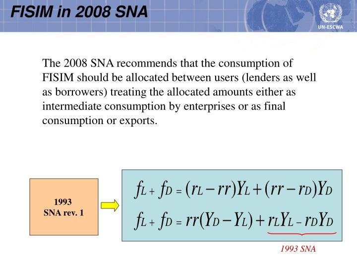 FISIM in 2008 SNA