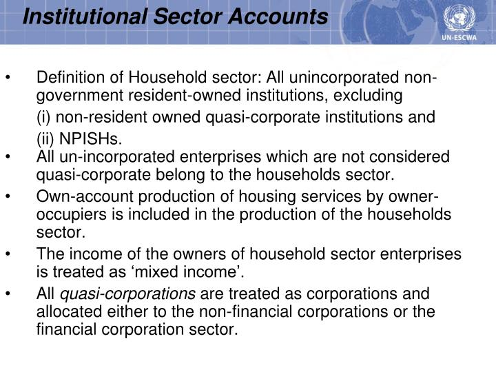 Institutional Sector Accounts