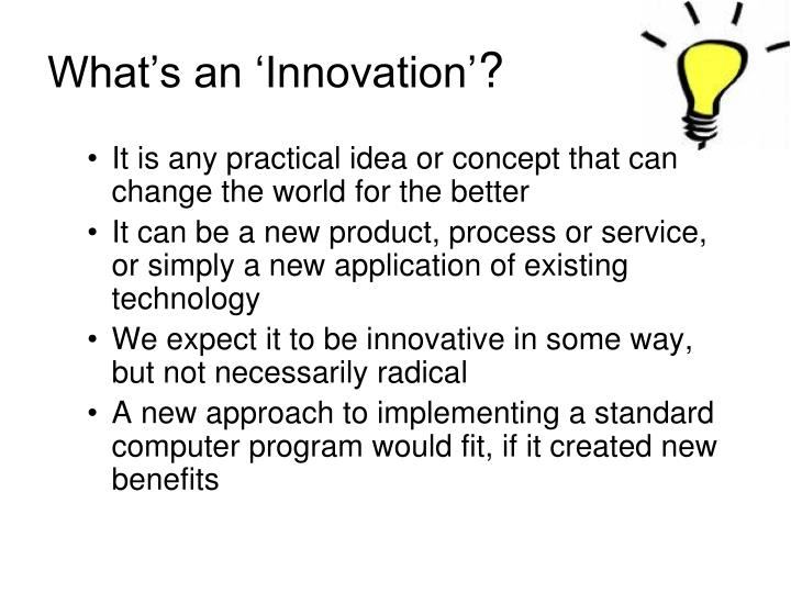 What's an 'Innovation'