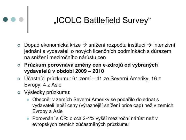 """ICOLC Battlefield Survey"""