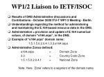 wp1 2 liaison to ietf isoc