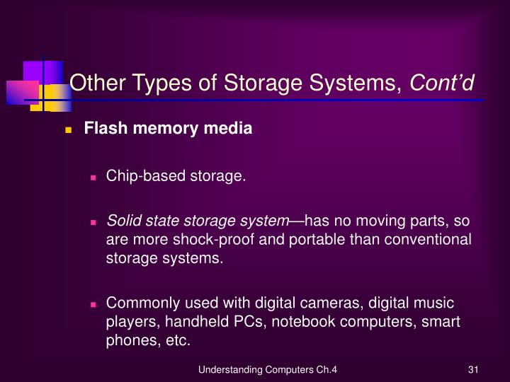 Other Types of Storage Systems,