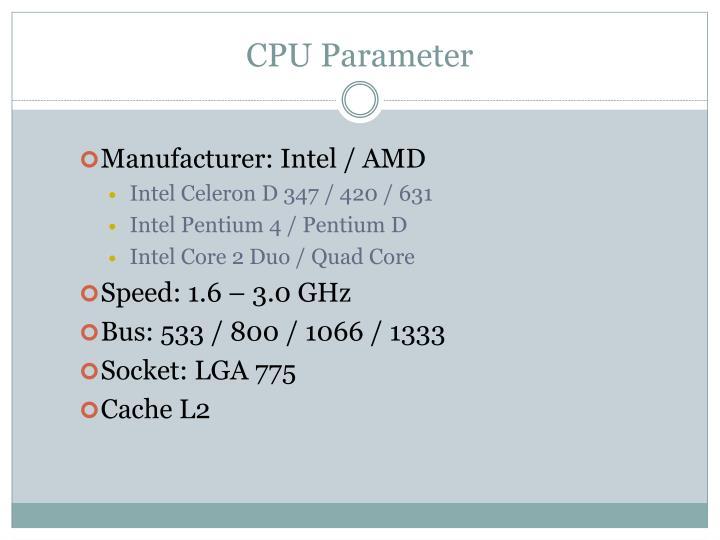 CPU Parameter