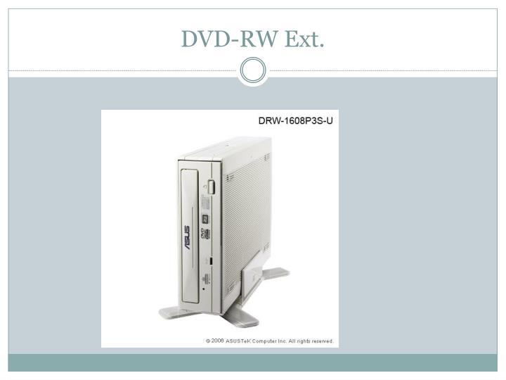 DVD-RW Ext.