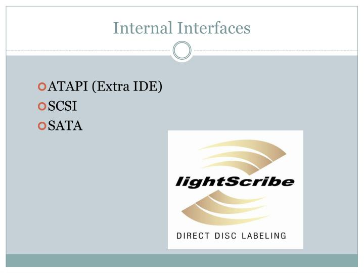 Internal Interfaces