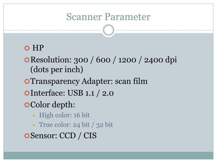 Scanner Parameter