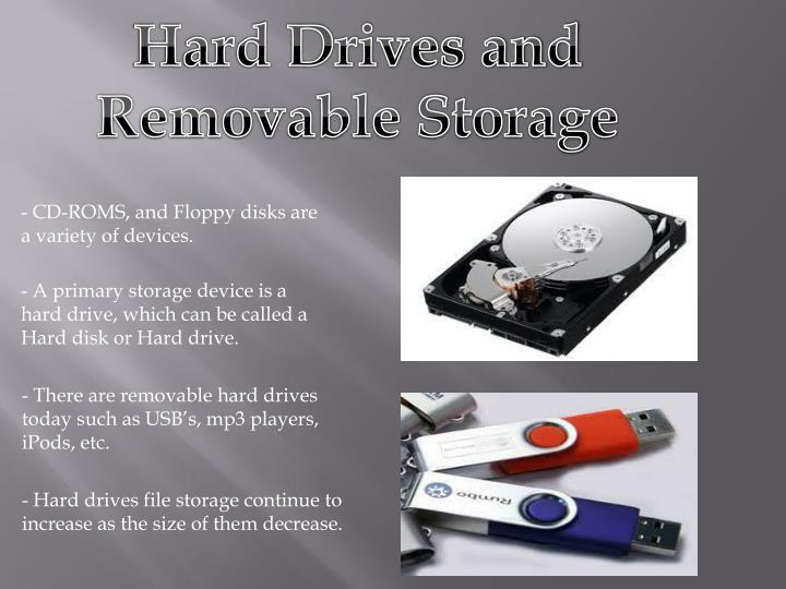 Hard Drives and Removable Storage