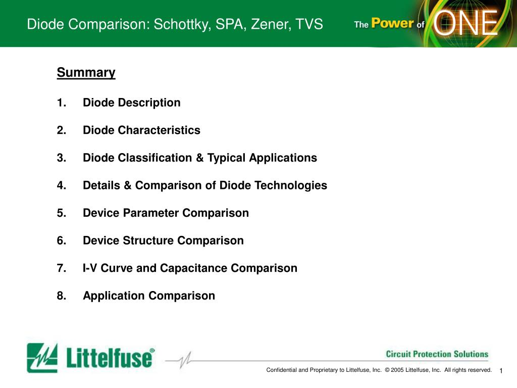 Ppt Diode Comparison Schottky Spa Zener Tvs Powerpoint Electrical Symbol Typically Used For A N