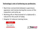 technology s role in furthering our profession
