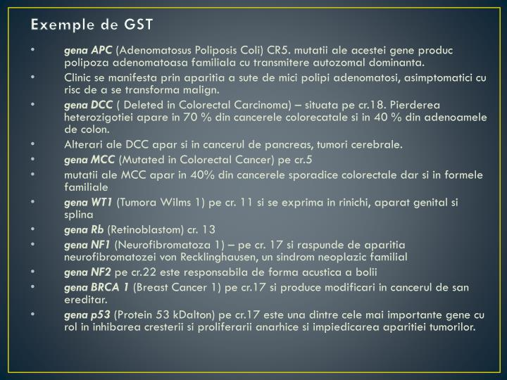Exemple de GST