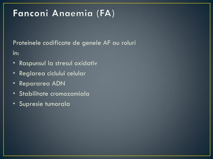 Fanconi Anaemia (FA)