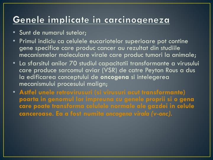 Genele implicate in carcinogeneza