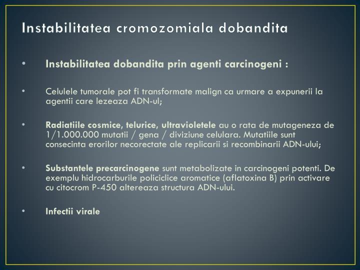 Instabilitatea cromozomiala dobandita