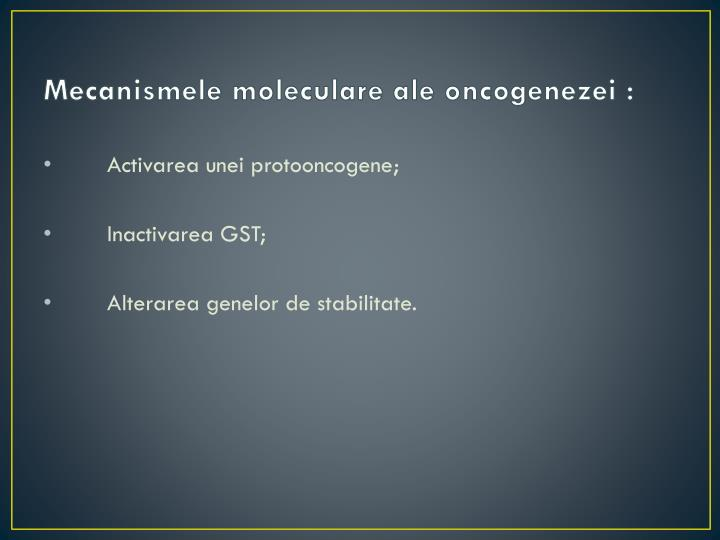 Mecanismele moleculare ale oncogenezei: