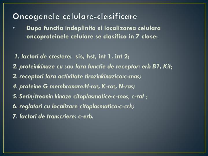 Oncogenele celulare-clasificare
