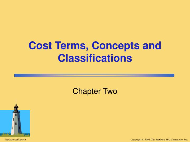 cost terms concepts and classifications n.