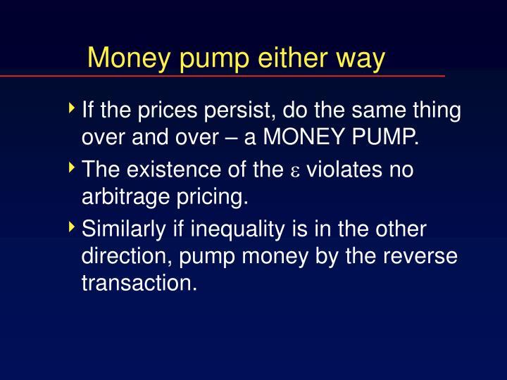 Money pump either way