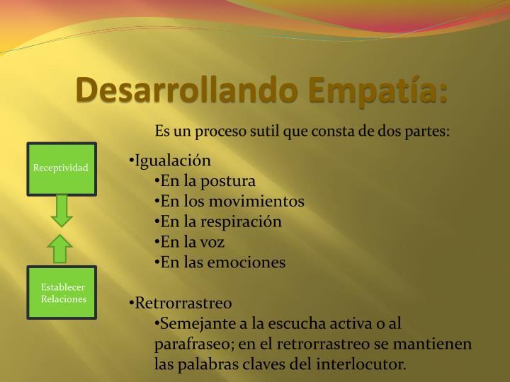 Desarrollando Empatía:
