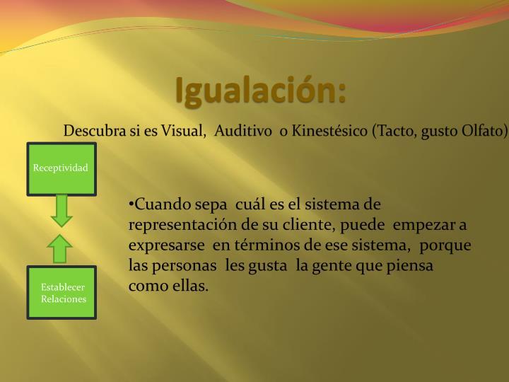 Igualación: