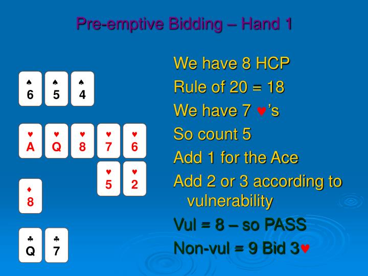Pre-emptive Bidding – Hand 1