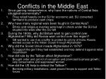conflicts in the middle east1
