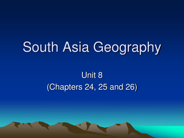 south asia geography n.