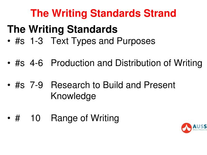 The Writing Standards Strand