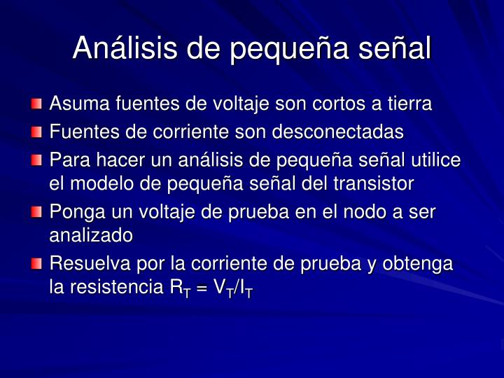 Análisis de pequeña señal