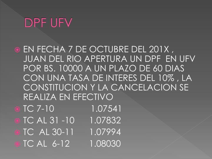 DPF UFV