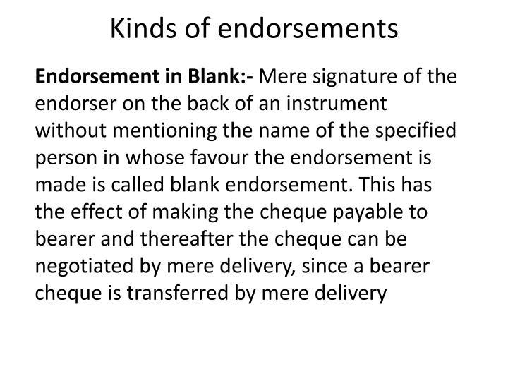 blank endorsement example