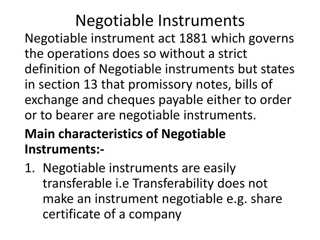 what does not negotiable on a cheque mean