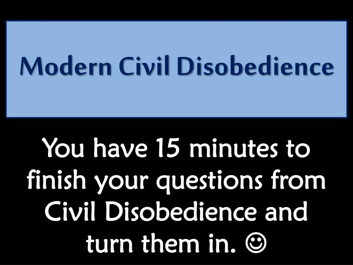 Modern civil disobedience1