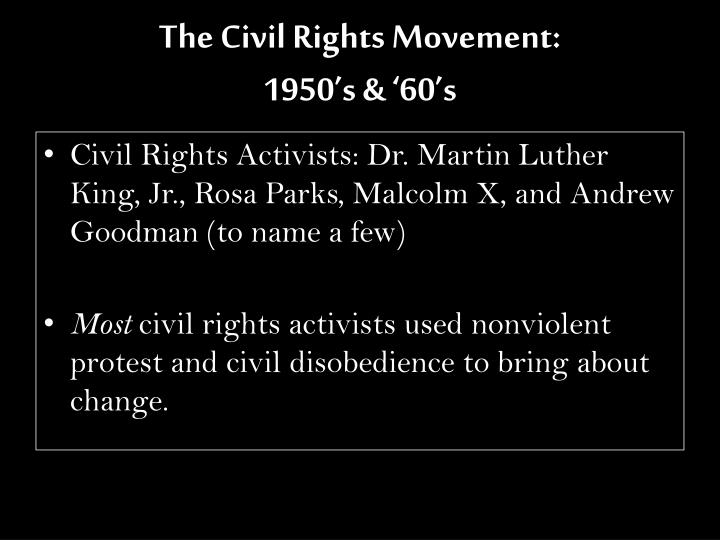 The Civil Rights Movement: