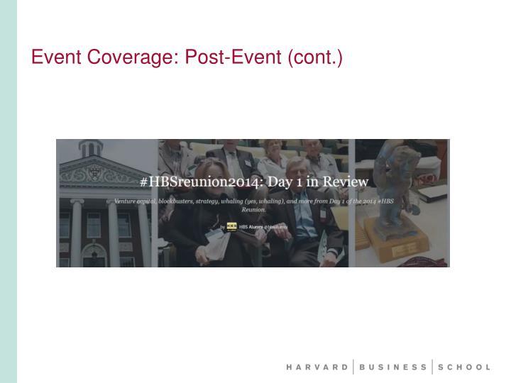 Event Coverage: