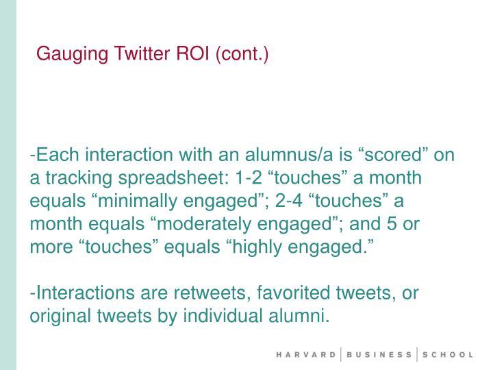 Gauging Twitter ROI (cont.)