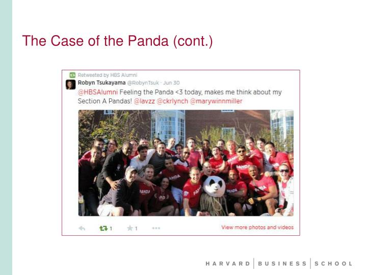 The Case of the Panda (cont.)